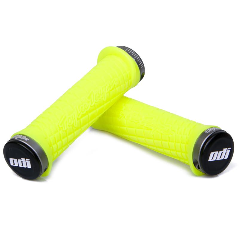 gripy MTB ODI Troy Lee Designs Lock-On žlutá